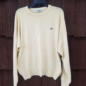 Lacoste Pale Yellow Crew Neck Sweater